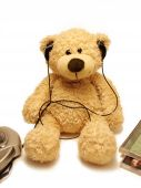 Teddy-bear Listening Music