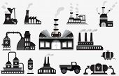 pic of bio-hazard  - Vector illustration of collection factory icons  - JPG