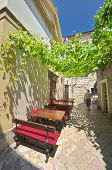 foto of pergola  - pergola on a street Kotor Old Town - JPG