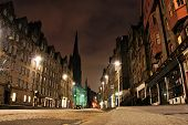 picture of mile  - Night view of the Royal Mile - JPG