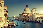 image of historical ship  - Grand Canal and Basilica Santa Maria della Salute - JPG