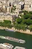 Touristic Ship On Seine River, Paris poster