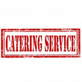 stock photo of catering service  - Grunge rubber stamp with text Catering Service - JPG