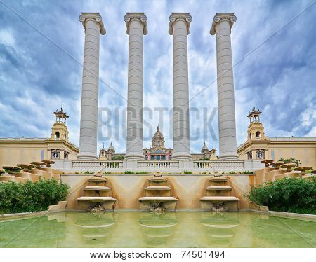 The National Palace In Montjuic, Barcelona, Spain