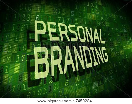 Personal Branding Words over Digital Background
