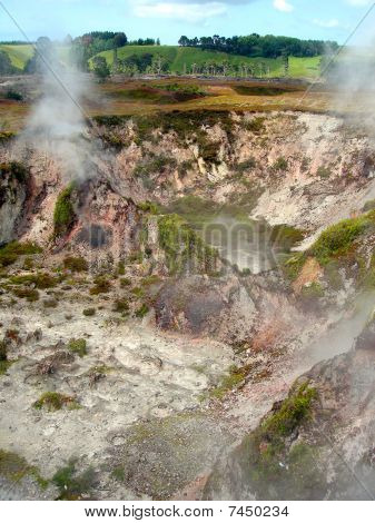 Fumaroles At Karapiti, Wairakei Natural Thermal Valley, Near Taupo, New Zealand