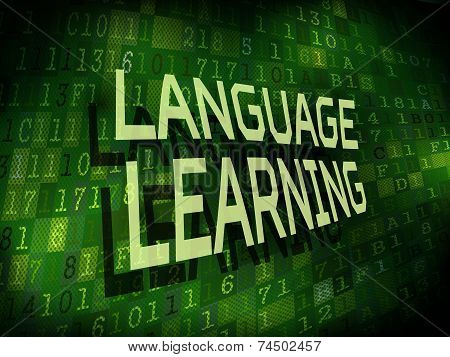 Language Learning Words Isolated On Digital Background