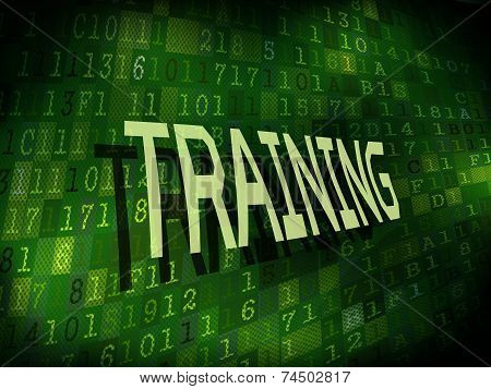 Training Word Isolated On Digital Background