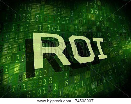 Roi Word Isolated On Digital Background