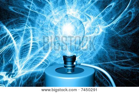 Bulb is ignited by cell