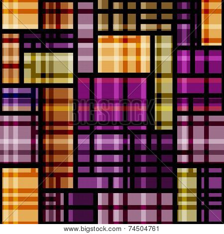 Plaid Violet Geometric Pattern.