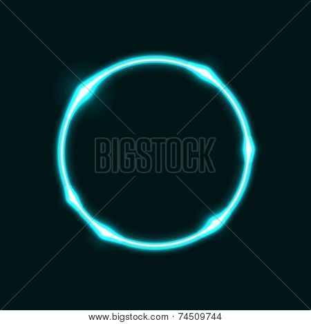Light Blue Circle Effect  Background