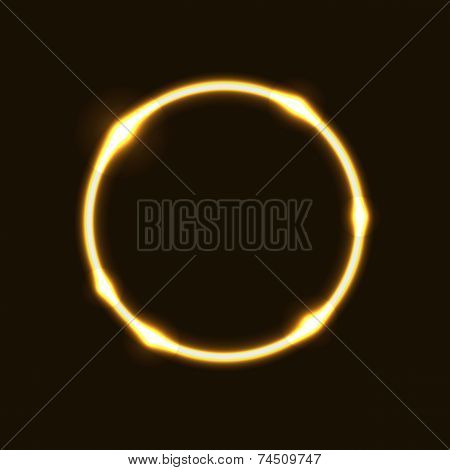 Gold Ring Circle Effect  Background