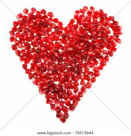 Love Heart Shaped Pomegranate Seeds