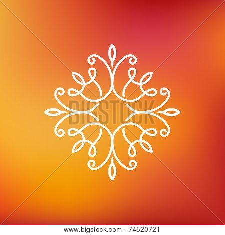 Vector Abstract Emblem - Outline Monogram