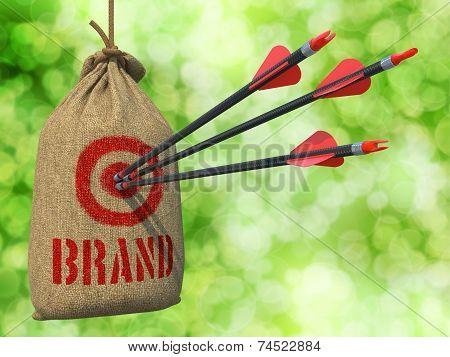 Brand - Arrows Hit in Red Mark Target.