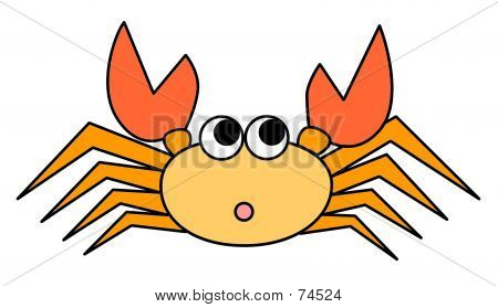 Cute Orange Crab