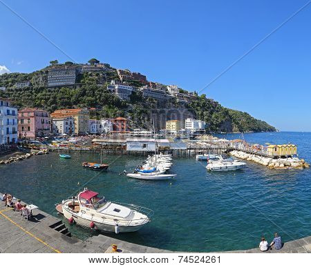 The Small Haven With Fishing Boats And Colorfull Houses in Sorrento