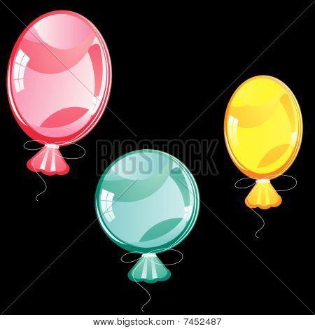 Baloons auf schwarz