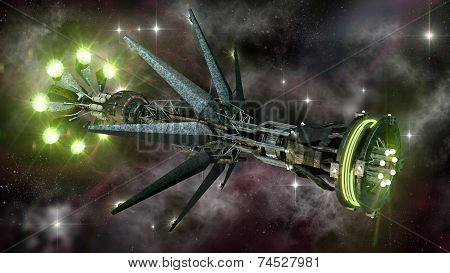 Spaceship in interstellar travel