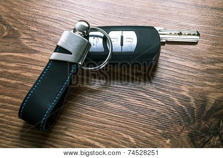 Car keys composing in gun shape