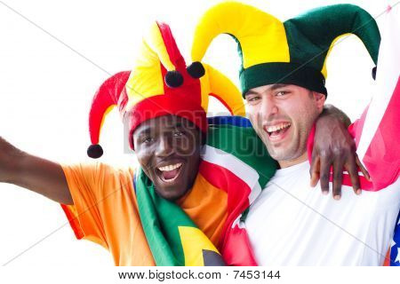 excited sports fans