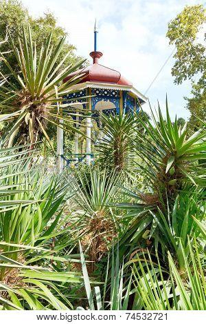 Plants And Pavilion In Nikitsky Botanical Garden