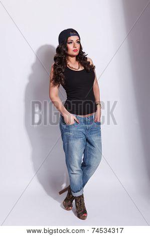 Fashionable cool girl