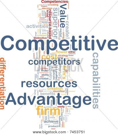 Competitive Advantage Background Concept