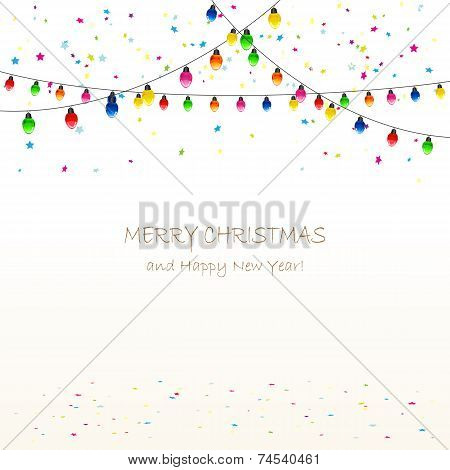 Christmas Garland And Confetti