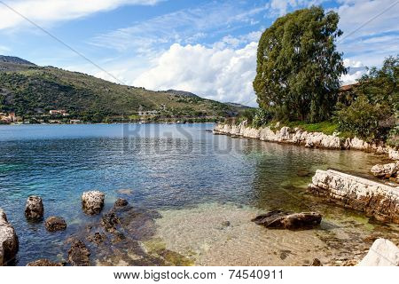 Landscape near the ancient village of Kassiopi on the north coast of Corfu, Crete, Greece