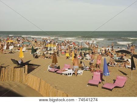 Pinamar Beach At Summer