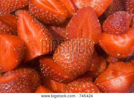 Summer fruits. Red Strawberries