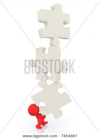 3D Man - Puzzle Pieces