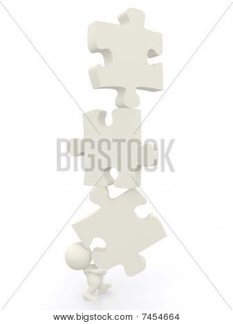 3D Man - Puzzle Pieces