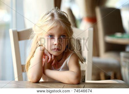 Portrait of beautiful little girl indoor