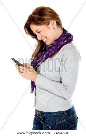 Casual Woman Texting