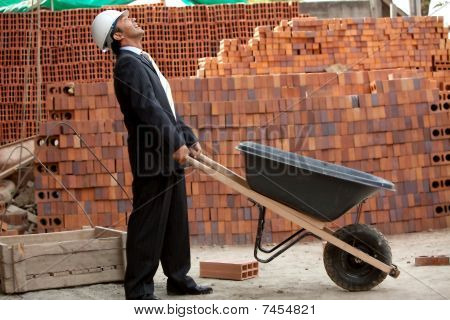 Engineer With Wheel-barrow