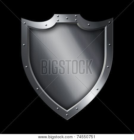 Medieval Silver Shield.