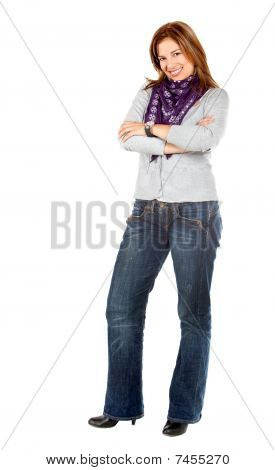 Casual Woman Isolated