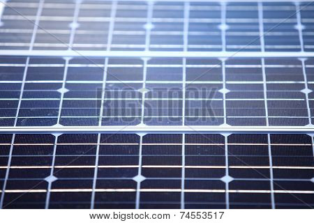 Background Of Blue Solar Panels Cells