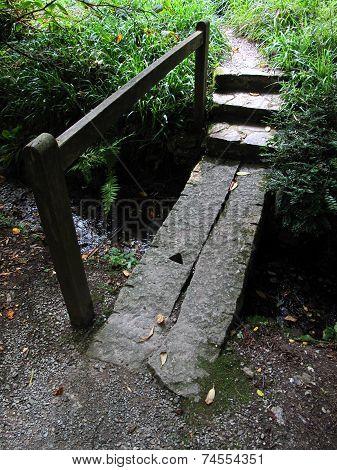 Bridged Stream Pathway Landscape