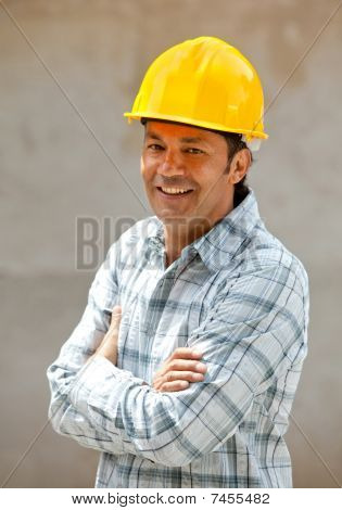 Male Architect At A Construction Site