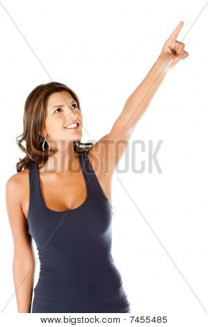 Woman Pointing At Something