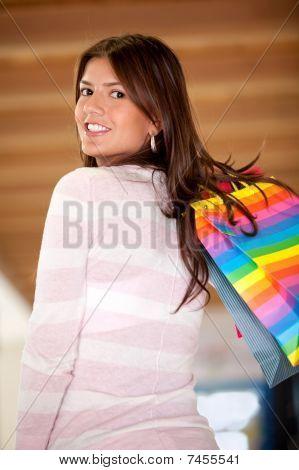 Shopping Girl Smiling