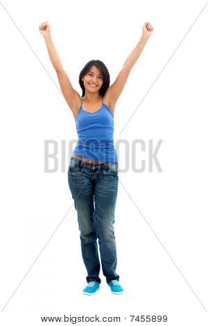 happy Woman with Arms bis