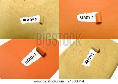 Set Of Ready Text