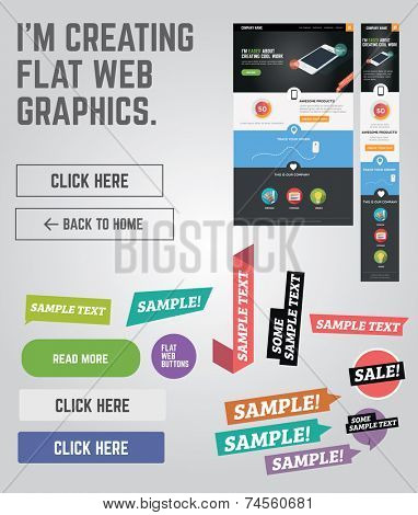 Flat web graphics