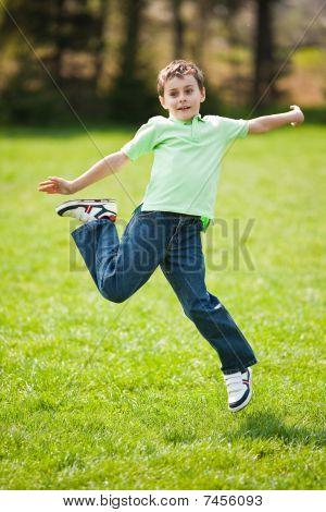 Kid Jumping For Joy