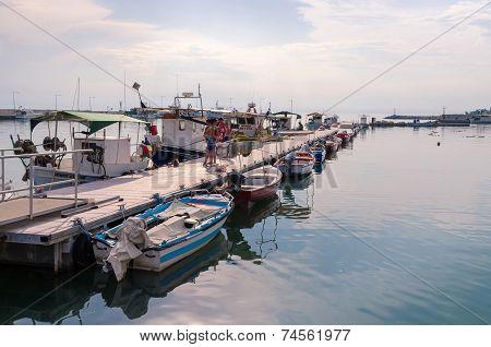Old Pier In Nea Kallikratia, Halkidiki, Greece